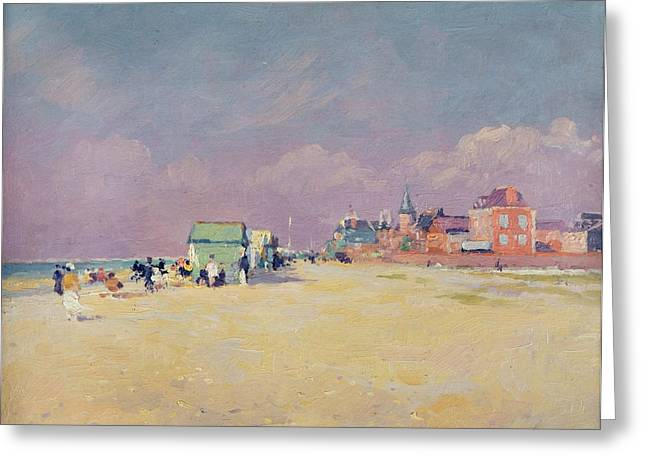 Sommes Greeting Cards - Cayeux sur Mer Greeting Card by Jules Ernest Renoux