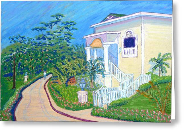 Dominican Republic Pastels Greeting Cards - Cayo Levantado Greeting Card by Rae  Smith PSC