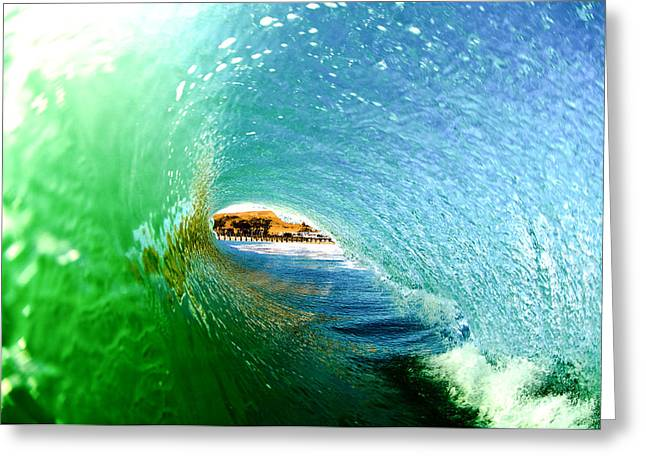 Coast Highway One Greeting Cards - Cayucos Tube Greeting Card by Andy Bowlin