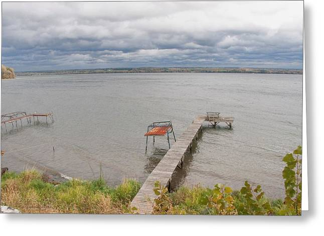 Finger Lakes Greeting Cards - Cayuga Lake Greeting Card by Peter Clemence