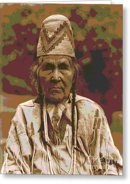 Matron Greeting Cards - Cayuse Matron Greeting Card by Padre Art