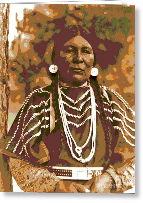 Cayuse Woman Greeting Card by Padre Art