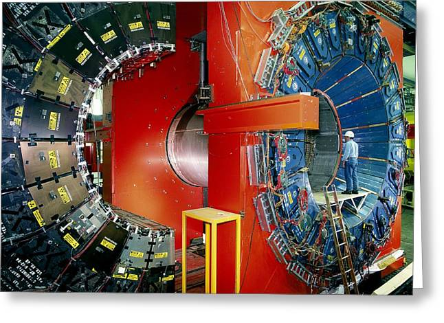 Particle Detector Greeting Cards - Cdf Particle Detector, Fermilab Greeting Card by David Parker