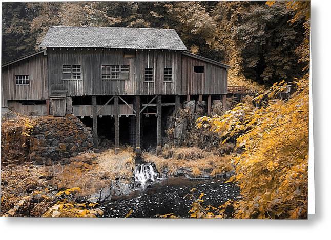 Cedar Creek Grist Mill Greeting Card by Steve McKinzie