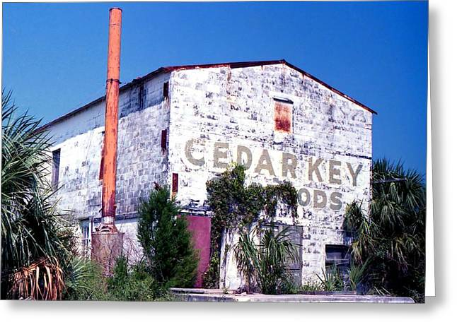 Cedar Key Greeting Cards - Cedar Key Foods Greeting Card by Lynnette Johns