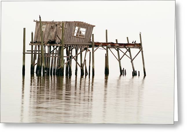 Cedar Key Greeting Cards - Cedar Key Structure Greeting Card by Patrick M Lynch