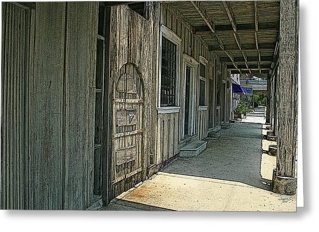 Cedar Key Greeting Cards - Cedar Key Western Greeting Card by William McEachern