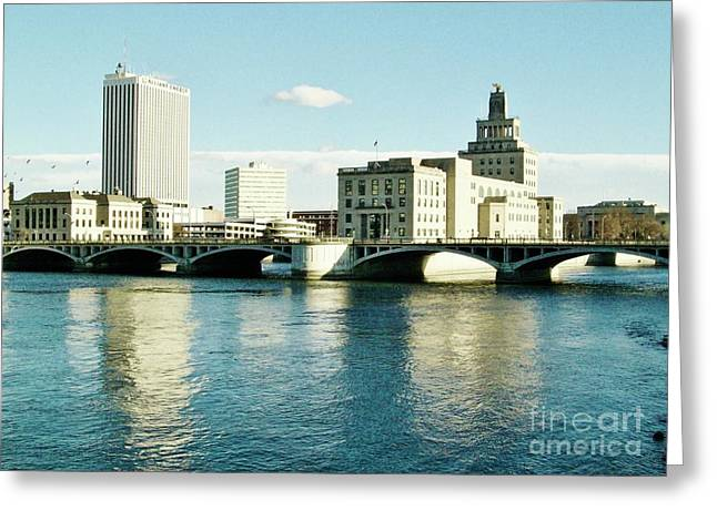 Cedar Rapids Iowa Greeting Card by Marsha Heiken