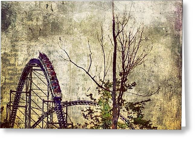 #cedarpoint #rollercoaster #ohio Greeting Card by Pete Michaud