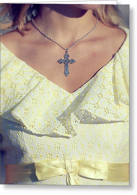 Jewellery Greeting Cards - Celctic Cross Greeting Card by Joana Kruse