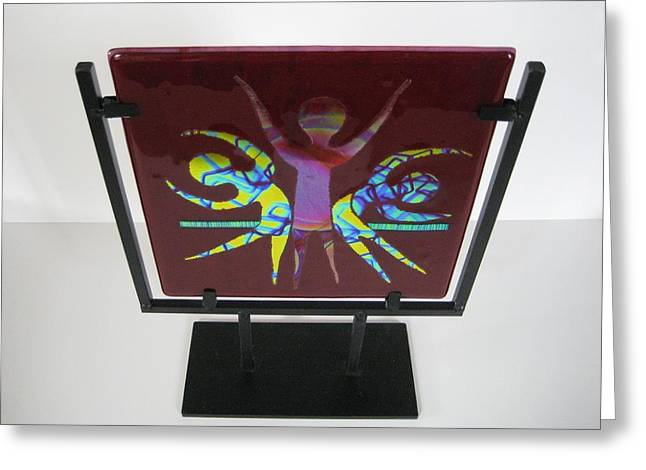 Dance Glass Art Greeting Cards - Celebrate Life Greeting Card by Mark Lubich