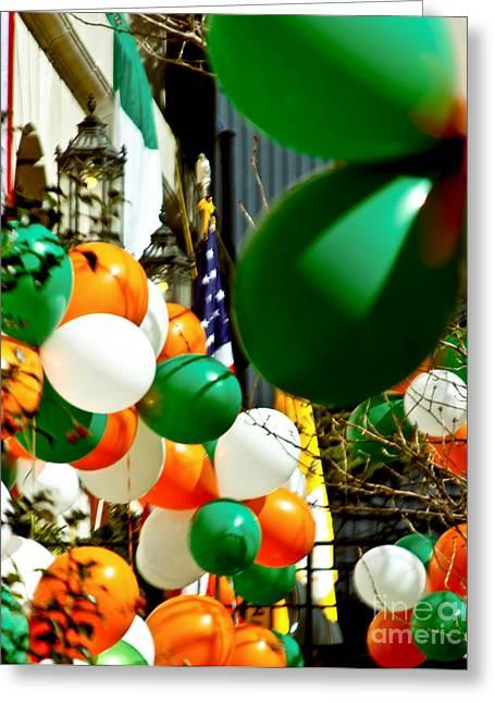 Celebrate Saint Patrick's Day Greeting Card by Carol F Austin