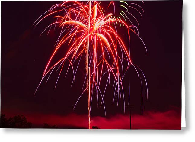 Celebrating America Greeting Card by David Hahn