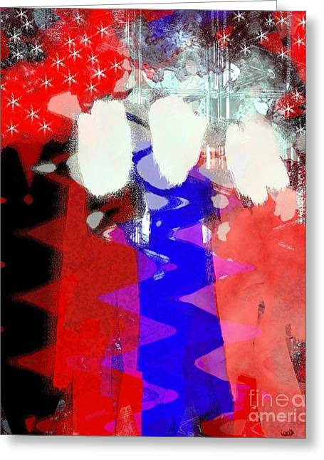 Independence Day Mixed Media Greeting Cards - Celebration 3 Greeting Card by Mimo Krouzian