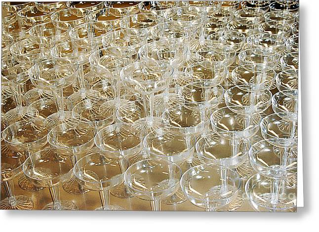 Champagne Glasses Greeting Cards - Celebration Greeting Card by Clayton Bruster
