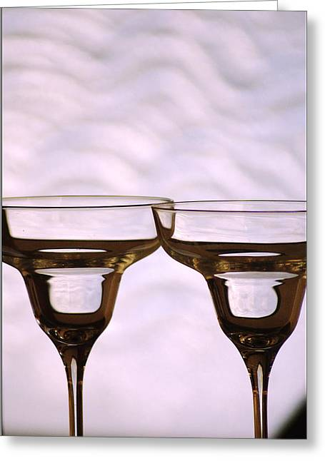 Best Sellers -  - Champagne Glasses Greeting Cards - Celebration Greeting Card by Holly Kempe