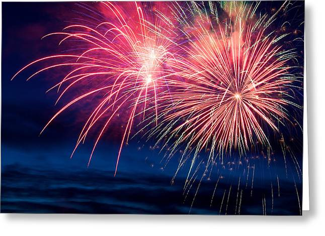 Pyrotechnics Greeting Cards - Celebration Greeting Card by Ivan SABO