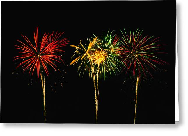 4th Of July Prints Greeting Cards - Celebration Greeting Card by James Heckt