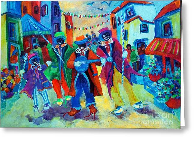 Cape Town Mixed Media Greeting Cards - Celebrations. Greeting Card by Estelle Hartley