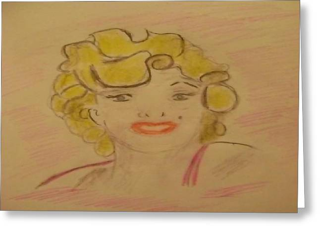 Starlet Drawings Greeting Cards - Celebrity Greeting Card by Paul Rapa