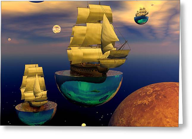 Celestial armada Greeting Card by Claude McCoy