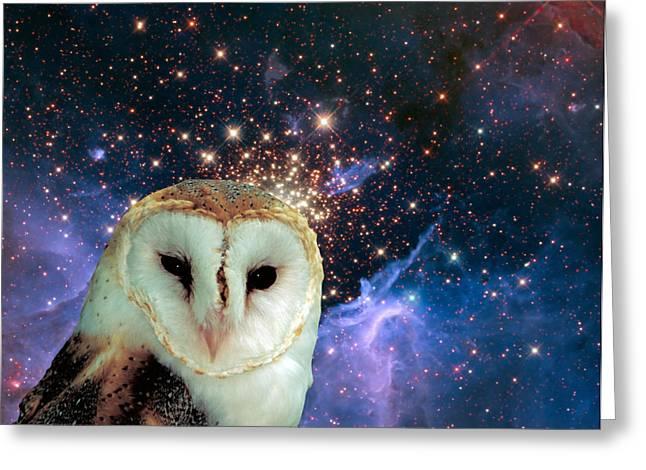 Celestial Nights Greeting Card by Robert Orinski