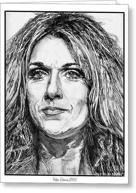 Celine Dion In 2008 Greeting Card by J McCombie