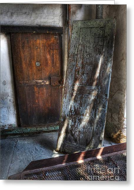 Prick Greeting Cards - Cell Doors - Eastern State Penitentiary Greeting Card by Lee Dos Santos