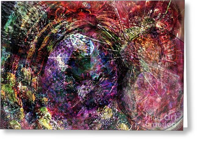 Biochemical Digital Greeting Cards - Cell Dreaming 1 Greeting Card by Russell Kightley