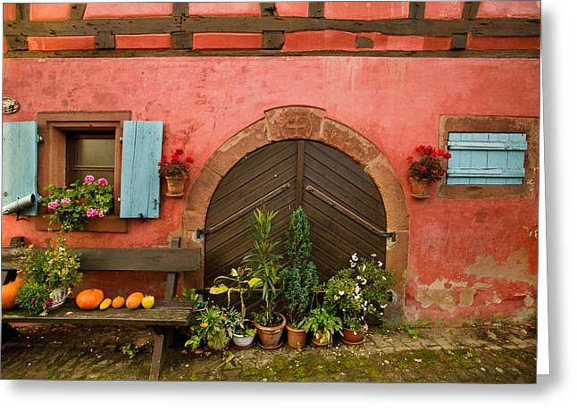 Alsace Greeting Cards - Cellar Door Greeting Card by John Galbo
