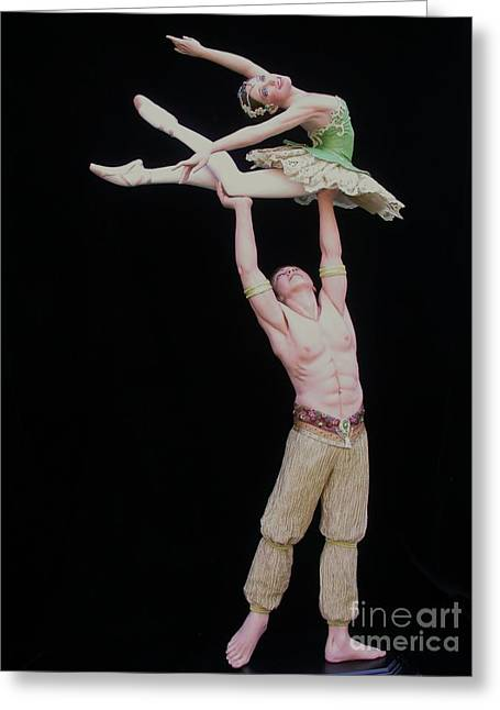 Dancer Art Sculptures Greeting Cards - Celle Qui Vole  or She Who Flies Greeting Card by Vickie Arentz
