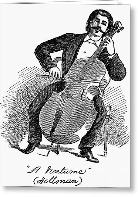 Tuxedo Greeting Cards - Cellist, 1883 Greeting Card by Granger