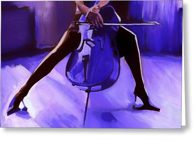 Cello Greeting Cards - Cello Greeting Card by Vel Verrept