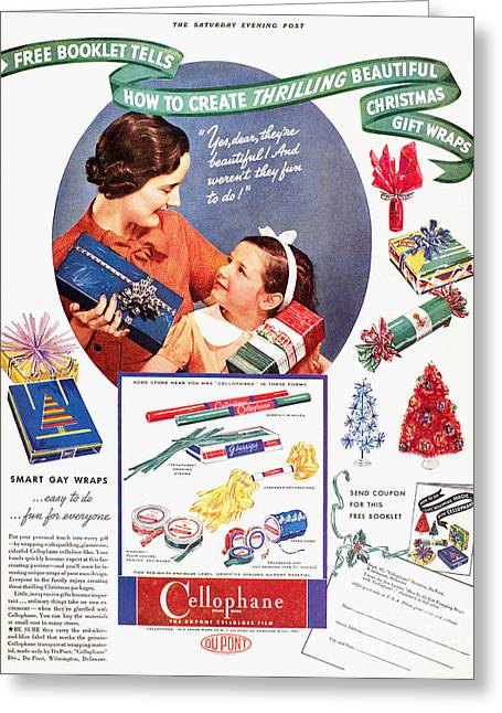 Daughter Gift Greeting Cards - Cellophane, 1937 Greeting Card by Granger