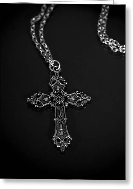 Celtic Necklace Greeting Cards - Celtic Cross Greeting Card by Joana Kruse