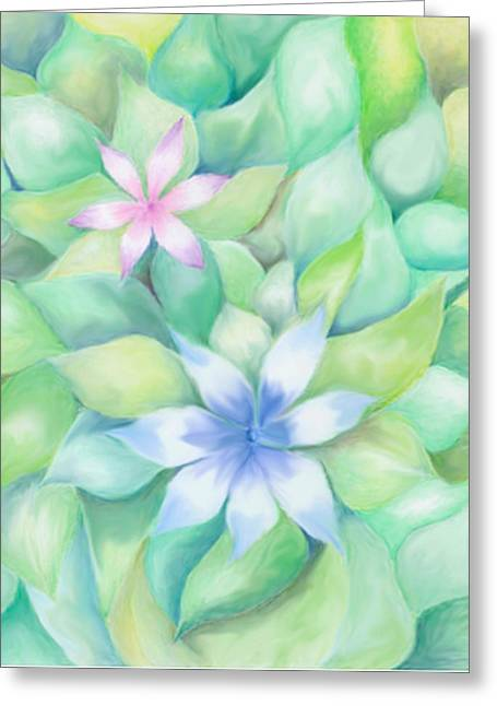 Linda Pope Greeting Cards - Celtic Flowers Greeting Card by Linda Pope