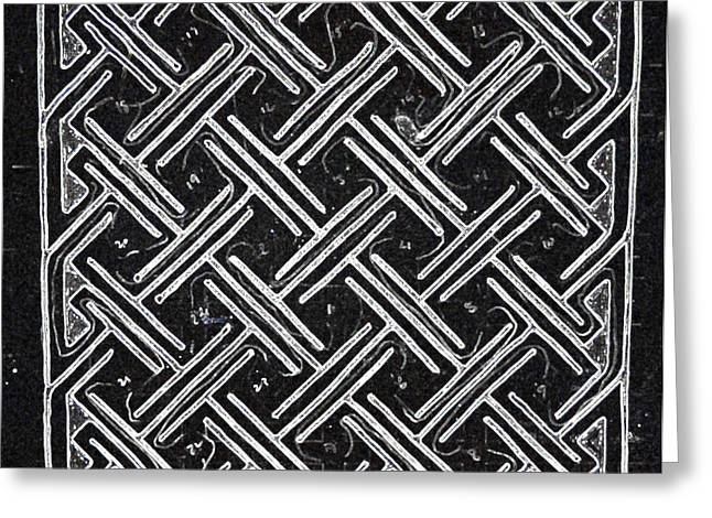 Carrier Drawings Greeting Cards - Celtic Maze Greeting Card by Liam Conroy