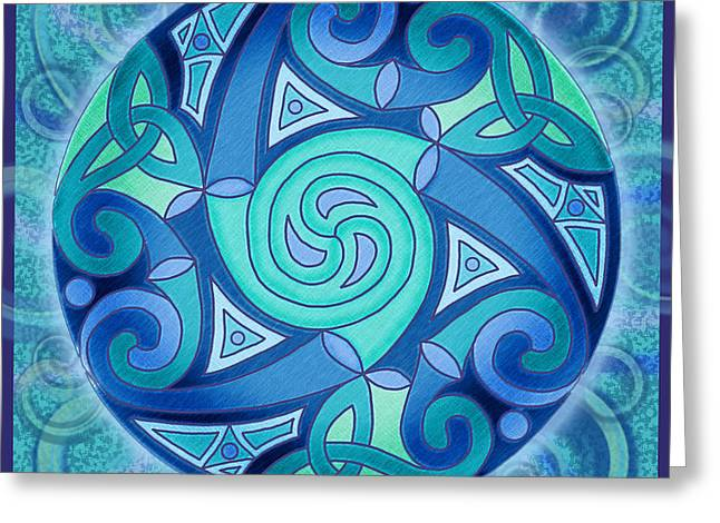 Big Blue Marble Greeting Cards - Celtic Planet Greeting Card by Kristen Fox