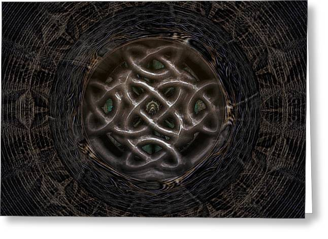 Architectural Treasure Greeting Cards - Celtic shutter Greeting Card by Jan Willem Van Swigchem