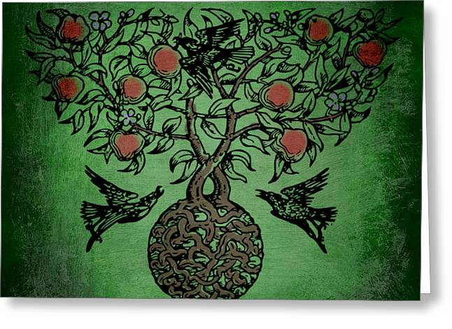 Recently Sold -  - Tripple Greeting Cards - Celtic Tree Of Life Greeting Card by Sacred  Muse