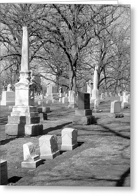 Headstones Greeting Cards - Cemetery 3 Greeting Card by Anita Burgermeister