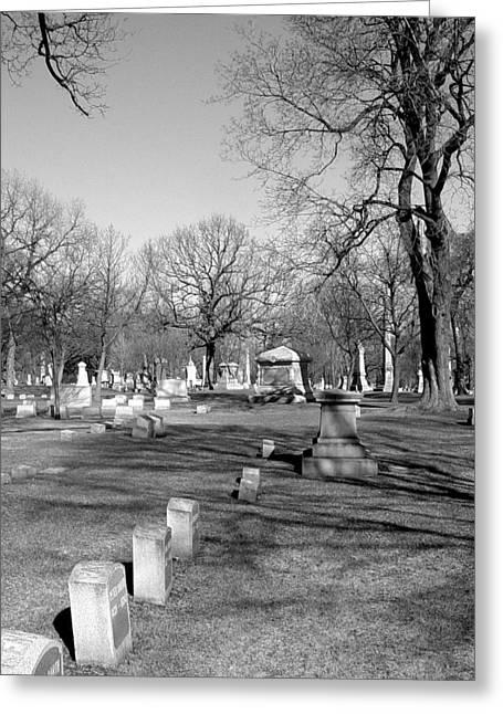 Headstones Greeting Cards - Cemetery 7 Greeting Card by Anita Burgermeister