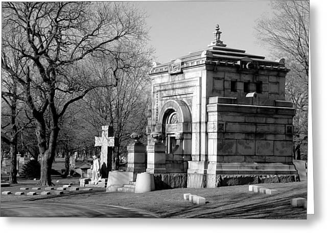 Headstones Greeting Cards - Cemetery 8 Greeting Card by Anita Burgermeister