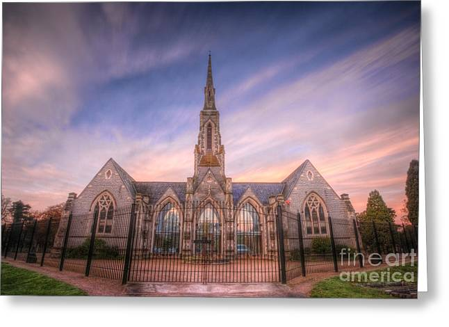 Spire Framed Prints Greeting Cards - Cemetery Gates 1.0 Greeting Card by Yhun Suarez