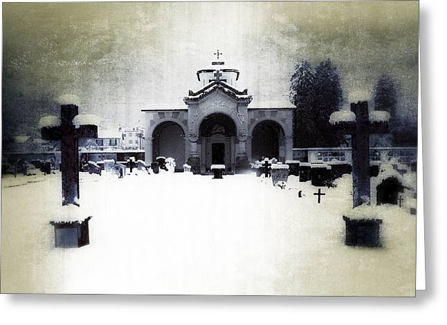 Mausoleum Greeting Cards - Cemetery Greeting Card by Joana Kruse