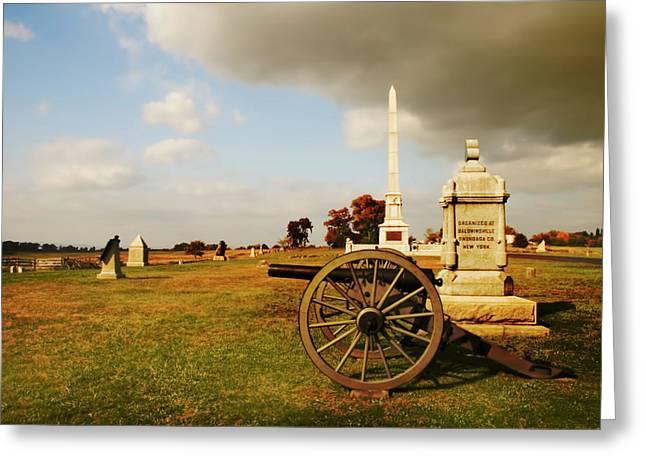 Cemetery Ridge Greeting Cards - Cemetery Ridge Greeting Card by Mick Burkey