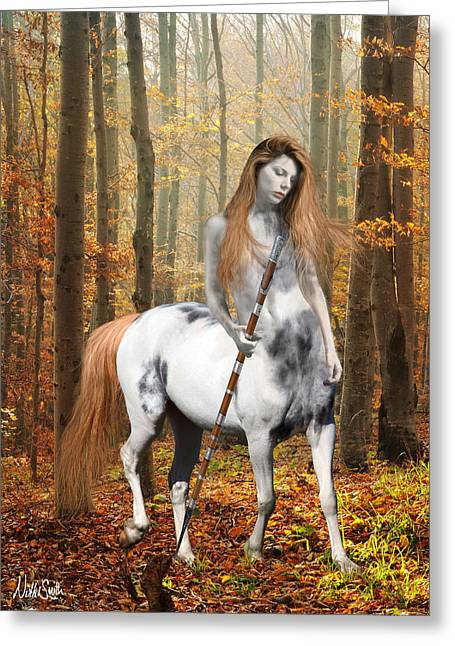Centaur Series Autumn Walk Greeting Card by Nikki Marie Smith