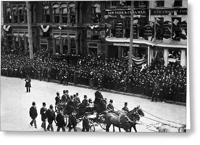 Inauguration Greeting Cards - Centennial Parade, 1889 Greeting Card by Granger