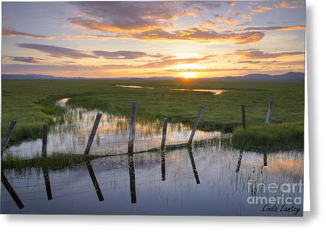 Scenic Idaho Greeting Cards - Centennial Sunset Greeting Card by Idaho Scenic Images Linda Lantzy