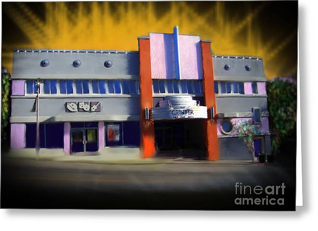 Transformative Art Greeting Cards - Center for the Arts Grass Valley Greeting Card by Lisa Redfern